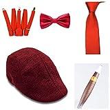 thematys® Sombrero mafioso Al Capone + Pajarita + Tirantes + Corbata + Cigarro - Disfraz de los años 20 para Dama y Caballero Carnaval (2)