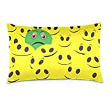 HOJJP Sad Emoji in Smiley Emoji Throw Pillow Cover Pillowcase, Decorative Invisible Zipper Cushion Cover 18x18 inch for Couch Bed Sofa