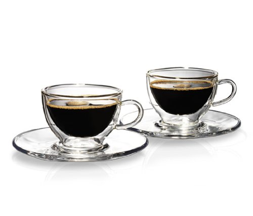 Tchibo Cafissimo Kaffee Glastassen 2er doppelwandig mundgeblasen