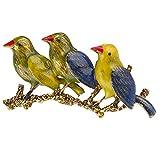 LIUMM DREI Vogel Brosche, Handgefertigte Tier Brosche Personalisierte Geschenk Für Männer Und Frauen Kleidung Zubehör Brosche