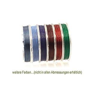 Creative-Beads Edelstahldraht, Schmuckdraht für Kette, Armbänder, Ohrringe etc, 7 Stränge, 0,5mm wire nylon ummantelt 10m Rolle zum Schmuck selbst machen
