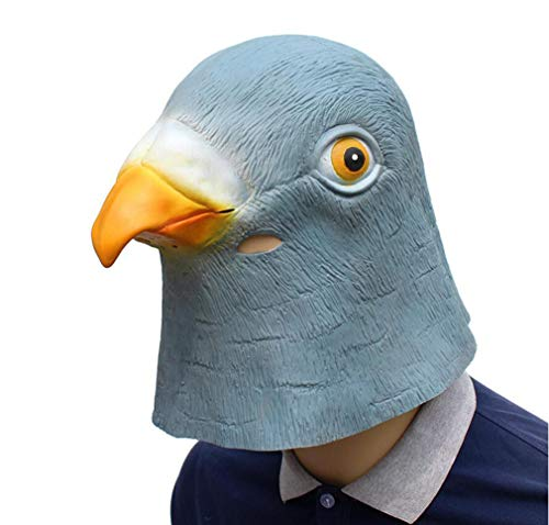 DUBAOBAO Halloween-Maske, Halloween-Party Liefert Tier Latex-Maske Pigeon Wig, Halloween-Maske Latex,Yellow