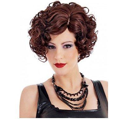 HJL-12 pouces femmes courte vague de corps de cheveux synth¨¦tiques perruque fuxia , fuxia