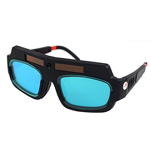 Nrpfell 1 stück solar betriebene auto verdunkelung schwei?maske helm brille schwei?er brille arc anti-shock linse für augenschutz - Arc Schutz