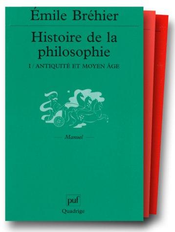 Histoire de la philosophie, coffret de 3 volumes
