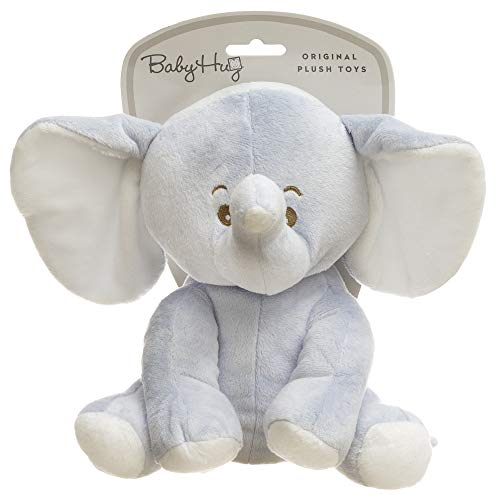 Hug Me 3830047238688 Plüsch Elefant Spielzeug, 25 cm, blau