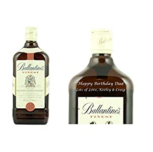 Personalised Ballantines Finest Whisky 70cl Engraved Gift Bottle from Ballantines