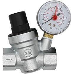 DN20 reducteur de pression d'eau 3/4 pouce regulateur de pression eau avec manomètre