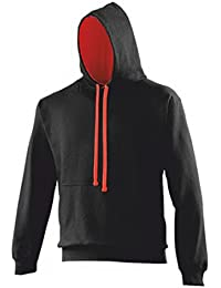 AWD - Sweat-shirt à capuche -  - Teddy - Uni - Manches longues Homme Noir Black hoodie with contrasting Red