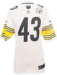 7eb6257212 Nike NFL Pittsburgh Steelers Troy Polamalu Juego de fútbol Americano Jersey  en Color Blanco
