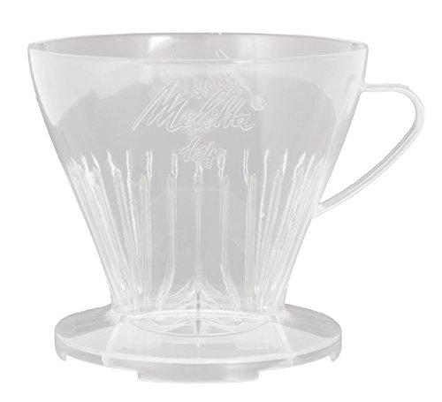 Melitta Kaffeehalter mit Kaffeemesslöffel, Kaffeefilter 1x4 Premium, Kunststoff, Transparent,...