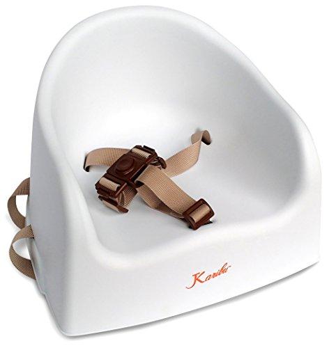 Asiento Elevador Bebé de EZ-Bugz. Silla elevador para que tu hijo pueda sentarse y comer seguro en la mesa sin trona. Blanco, para niños de +6 meses