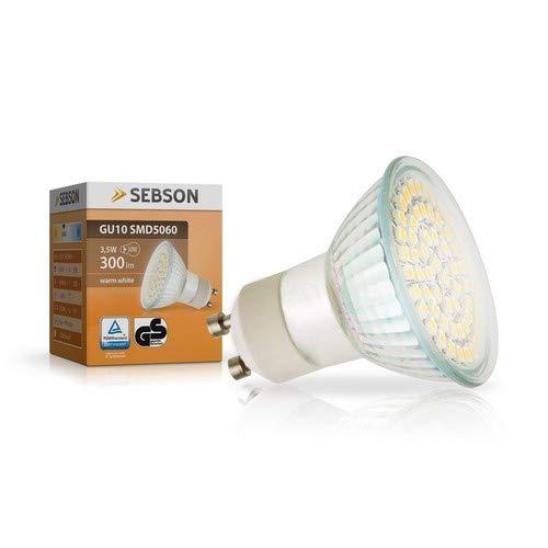 SEBSON GU10 LED 3,5W Lampe - vgl. 35W Halogen - 300 Lumen - GU10 LED warmweiß - LED Leuchtmittel 110° - 230V -