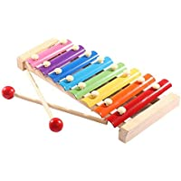 Soota Musical Instruments Toy Xylophone for babies, Holiday/Birthday Gift, Wooden Musical Instrument with Bright Multi-Colored Bars and Child-Safe Mallets