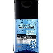 L'Oreal Men Expert Hydra Power After-Shave Lotion, sorgt für 24H Feuchtigkeit, mildert Rasurbrand und beruhigt die Haut, 50 ml
