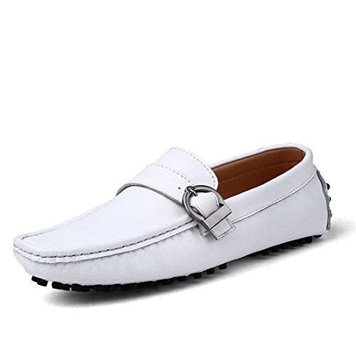 HENGJIA Herren Klassische Loafers Freizeitschuhe Schlupfhalbschuhe Bequeme Fahrerschuhe XGX-669 Schwarz