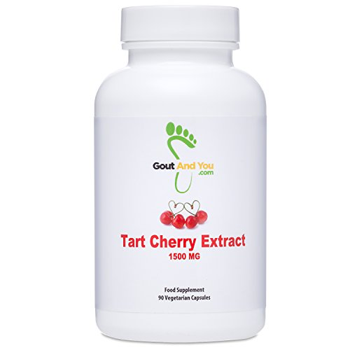 GoutandYou Tart Cherry Extract- Estratto Di Amarena - Ad Alta Potenza - 1500 Mg - 90 Capsule