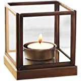 Collectible India Mirage Glass Iron Tea Light Candle Holder (11 X 10 X 10 Cm)