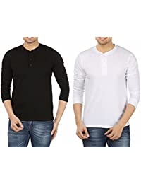 Weardo Men's Cotton T-Shirt (Combo Of 2)