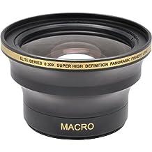 0,30x lente de conversión de gran angular ojo de pez con Macro Close Up accesorio para Canon EOS 1d, 1d X, 1d S, 5d, 5DS, 5DS R, 6d, 7d, 10d, 20d, 30d, 40d, 50d, 60d, 70d, 100d, 300d, 350d, 400d, 450d, 500d, 550d, 600d, 650d, 700d, 750d, 760d, 1000d, 1100d, 1200d 1d, 5d, 7d, (Mark II, III, IV, Mark 2, 34)///Para Nikon 3000, D3100, D3200, D3300, D5000, D5100, D5200, D5300, D5500, D7000, D7100, DF, D3, D3S, D3X, D4, D40, D40x, D50, D60, D70, D70s, D80, D90, D100, D200, D300, D600, D610, D700, D750, D800, D800E, D810Cámara réflex digital