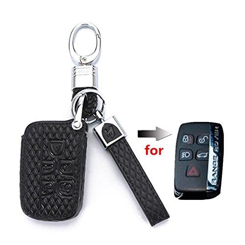 Happyit High Guality auto Keycover custodie in pelle auto portachiavi per Land Rover Jaguar 5Buttons Smart Key