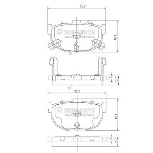 Nipparts J3610505 Kit de plaquettes de frein, frein à disque