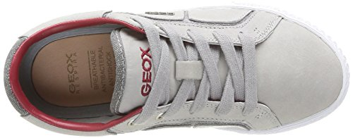 Geox  J Smart B B,  Sneaker bambino Grigio (Gris (Grey/Red))
