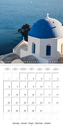 Santorini, Une perle de la Mediterranee 2020: Calendrier avec des images merveilleuses de l'ile de Santo