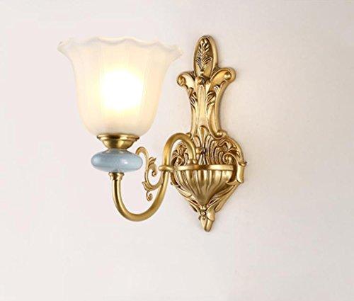 Lampe murale applique Lampes murales simples - Couloirs d'intérieur et d'extérieur Murs Walkway conduit tous les abat-jour en verre de cuivre Corridor Creative luminaires décoratifs (15 cm * 36 cm)