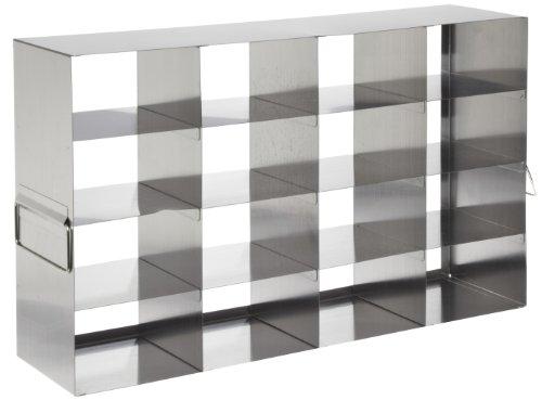 Heathrow Scientific HD2862KB Edelstahl-Rack mit Gefrierschränke, horizontal, 4 x 4 Fächer für 75 mm hohe Boxen