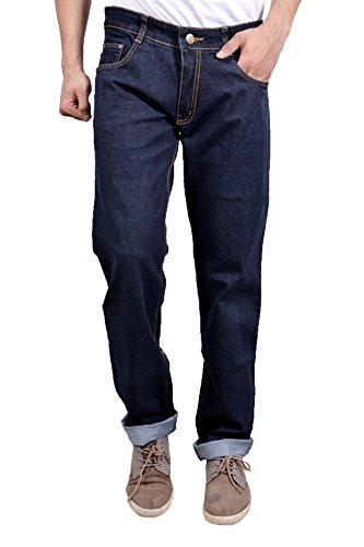 Studio Nexx Men's Denim Regular Fit Jeans (Indigo Blue, Size - 36)  available at amazon for Rs.729