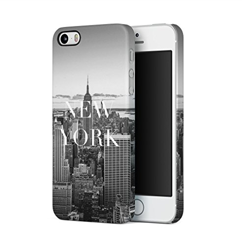Maceste New York City Empire State Building Kompatibel mit iPhone 5 / iPhone 5S / iPhone SE SnapOn Hard Plastic Phone Protective Fall Handyhülle Case Cover - 5 Urban Fall Iphone