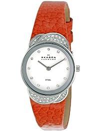 Skagen Damen-Armbanduhr XS Analog Quarz Leder 818SSLO