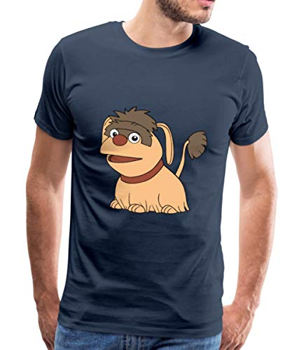 Spreadshirt Sandmännchen Und Seine Freunde Hund Moppi Männer Premium T-Shirt, S, Navy