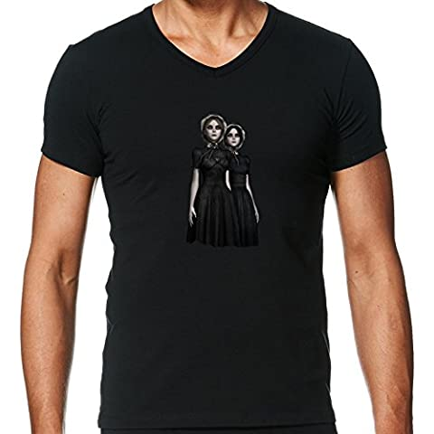 Camiseta V Cuello para Hombre - Gemelos Mortales De Halloween by Britta Glodde