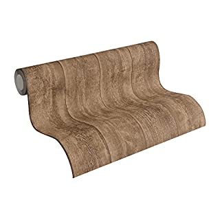 A.S. Creation 7088-23 Murano Wood Effect Wallapaper, Brown, 10,05m x 0,53m