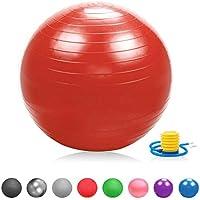 Glamexx24 Doux Épaisseur Ballon de Fitness Anti-éclatement Ballon de Gymnastique Pezzi Ballon Swiss Ball Ballon de Fitness Pompe Balle, Rigide, Bandes de Résistance, Mini Ballon de Pilates Yoga Ball