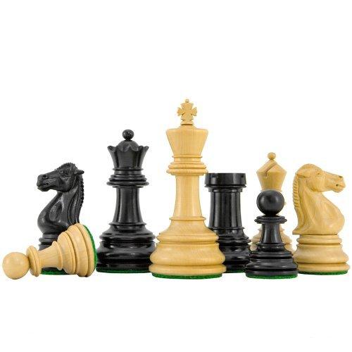 Cheltenham Ebenholz Luxus Schach Stücke 3. 1.9cm