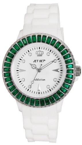 Jet Set J10014-461Addiction–Ladies Watch–Analogue Quartz–White Dial White Rubber Strap