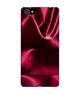 PrintVisa Designer Back Case Cover for Vivo X7 (Beautiful mahrun colour cloth wrinkled rucked)
