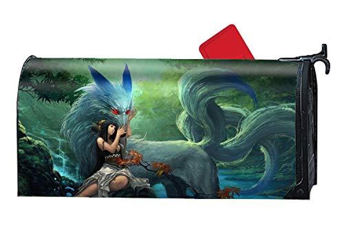 Womens Küste Abdeckung (MAYS Picket Fence Fantasy Warrior Dragon Men Magnetbriefkasten-Abdeckung Size Fantasy Women Fox7)