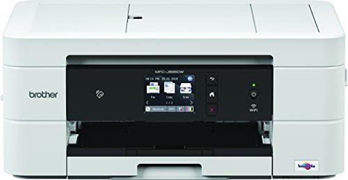 'Brother mfcj895dw Multifunktionsgerät mit Fax Tintenpatrone A4Duplex, Drucken und NFC (2.7) Touchscreen, USB 2.0, WLAN, Ethernet, WiFi Direct, 128MB RAM weiß -