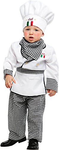 Costume di carnevale da piccolo cuoco vestito per neonato bambino 0-3 anni travestimento veneziano halloween cosplay festa party 53153 taglia 3