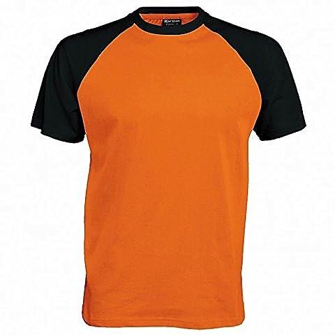Kariban Mens Short Sleeve Baseball T-Shirt (S)