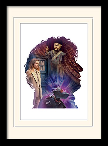 Pyramid International MP10718P-PL Doctor Who (Tom Baker) montiert und gerahmt, mounted 250 gsm Paperwrap MDF, mehrfarbig, 44 x 33 x 4 cm