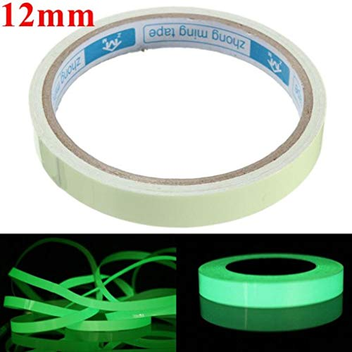 Yongse Self Adhesive Grün leuchtende Band Wasserdicht Langnachleuchtende Band 12mm Weit Glow In The Dark Bühne Home Decor