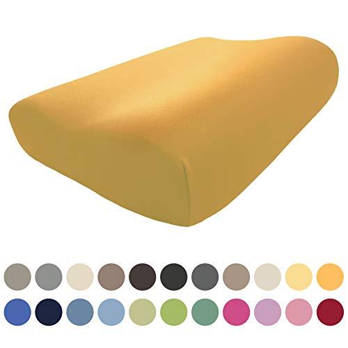 EddaLux Federa per Cuscino Tempur Original Queen S/M/L/XL, in Jersey di Alta qualità, 61 x 31 cm, 60 x 30 cm, 100{54d00df299e228ffa136962c85325fe09d294e24a7c1c31f2814f88aebe5d699} Cotone, Disponibile in Diversi Colori, Miele, 61 x 31 cm