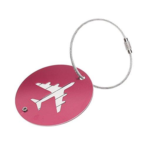 FITYLE Kofferanhänger Reise Gepäckanhänger aus Aluminium-Legierung + Edelstahl Kette - Rosa (Kofferanhänger Flugzeug)