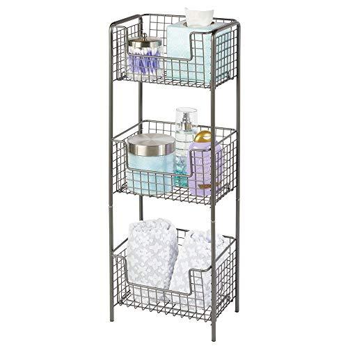 MDesign Estantería baño pie metal - Mueble auxiliar