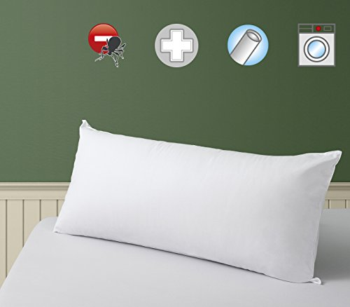 SAVEL, Anti-Milben-Kissen aus 100% Baumwolle, mittelfest, 90 x 40 cm